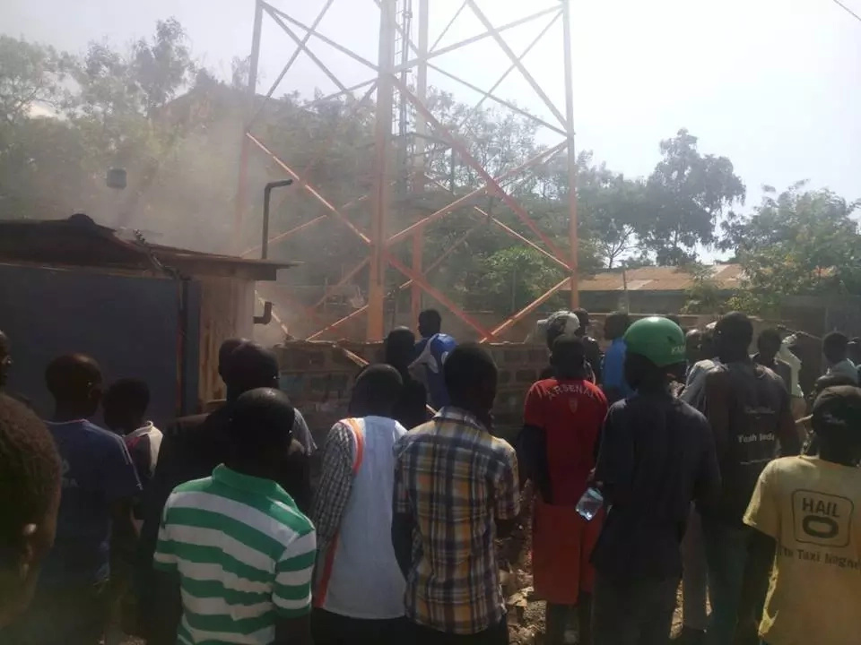 Safaricom booster vandalised in Kakamega amidst chaotic protests over Supreme Court ruling