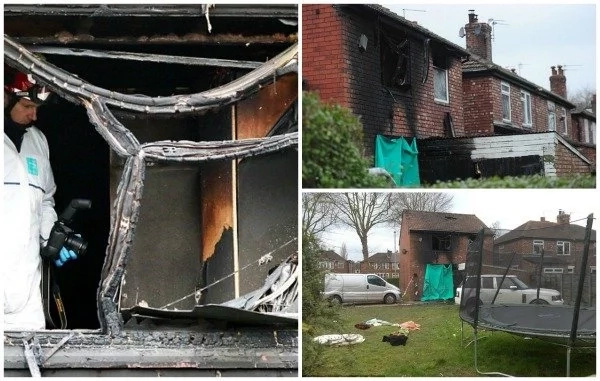Neighbour rescues two children as they jump into his hands during massive house fire (photos, video)