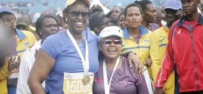 Elite runners dominate the  First Lady's half marathon event