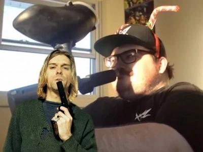 Fat Daredevil Shoots Paintball Gun Into Mouth Like Kurt Cobain