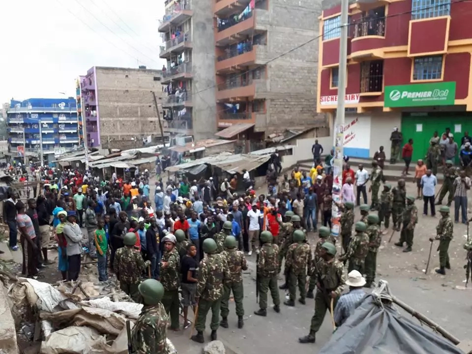 Disheartening photos from the post-poll protests in Mathare