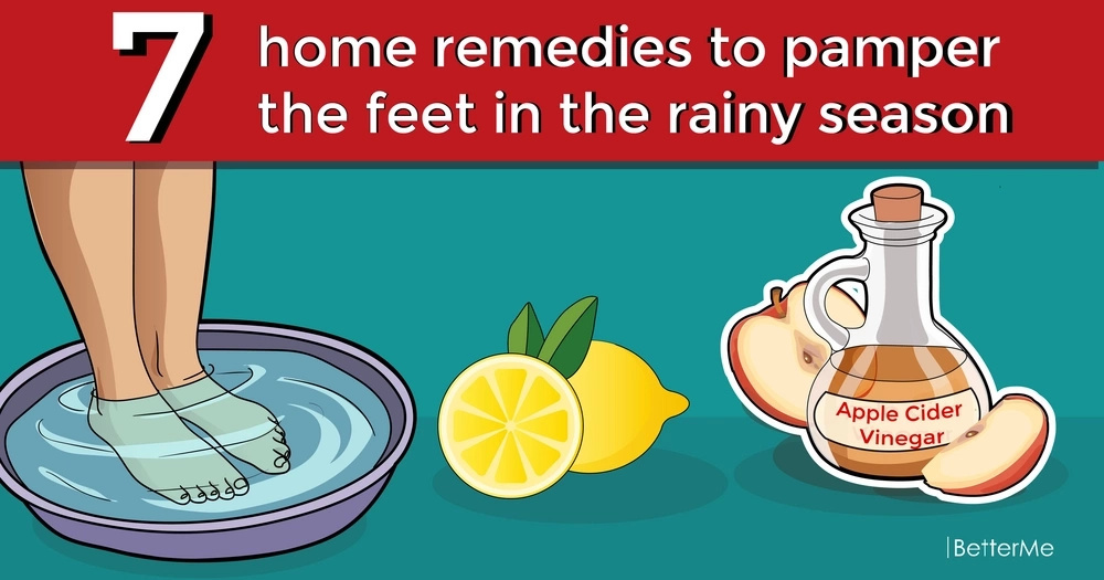 7 home remedies to pamper the feet in the rainy season
