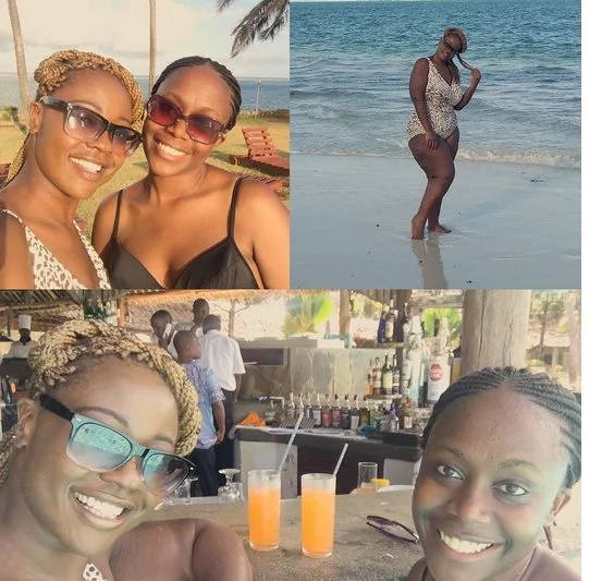 Kalekye Mumo shows off her body in an animal print bikini