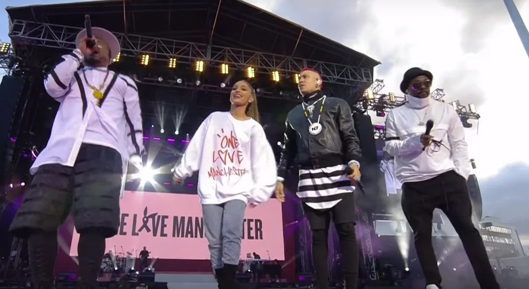 Apl De Ap joins Ariana Grande in Manchester benefit concert for the victims of terror attacks