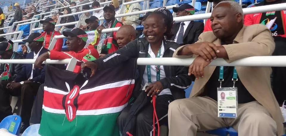 Photos of William Ruto cheering In Rio as Kenya shines