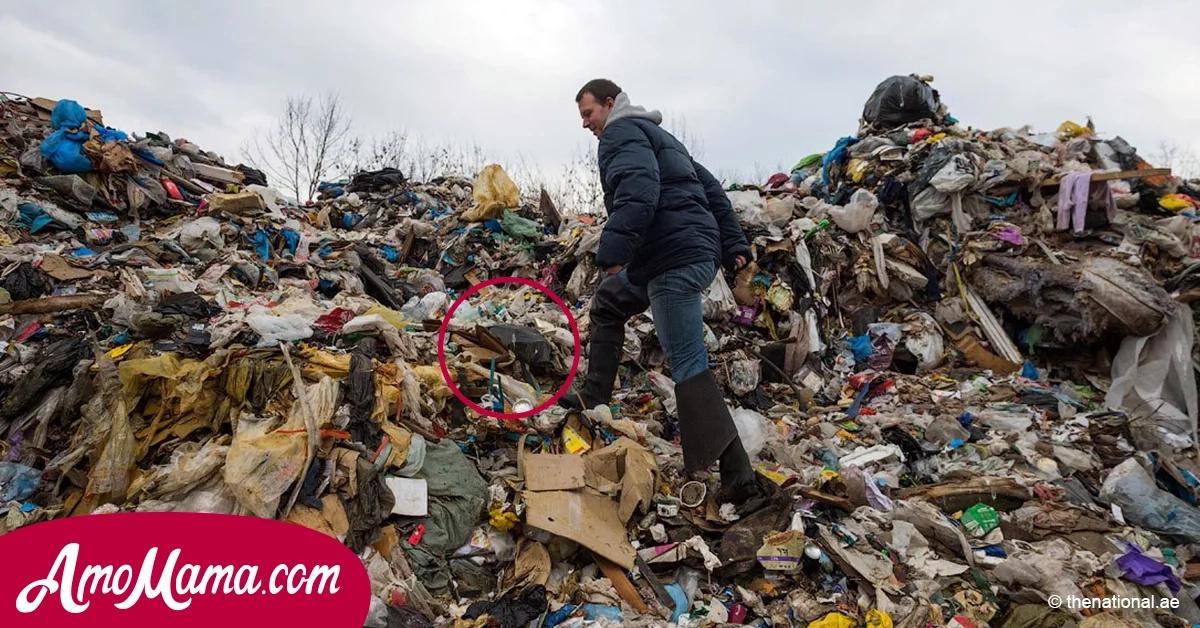 Un hombre recogió basura en el vertedero. De repente vio algo extraño en el montón de desperdicios