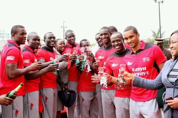The Kenyan rugby team made history by wining the main cup