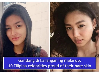 Ang tunay na itsura ng mga artista! 10 Filipina celebrities and what they look like without makeu