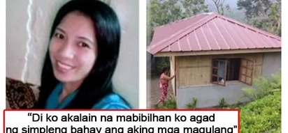 Huwarang anak na dapat tularan! Pinay OFW bought a house for her parents from her 8 months' earnings