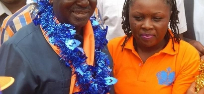 These two ladies could not hide their love for Raila Odinga (photos)