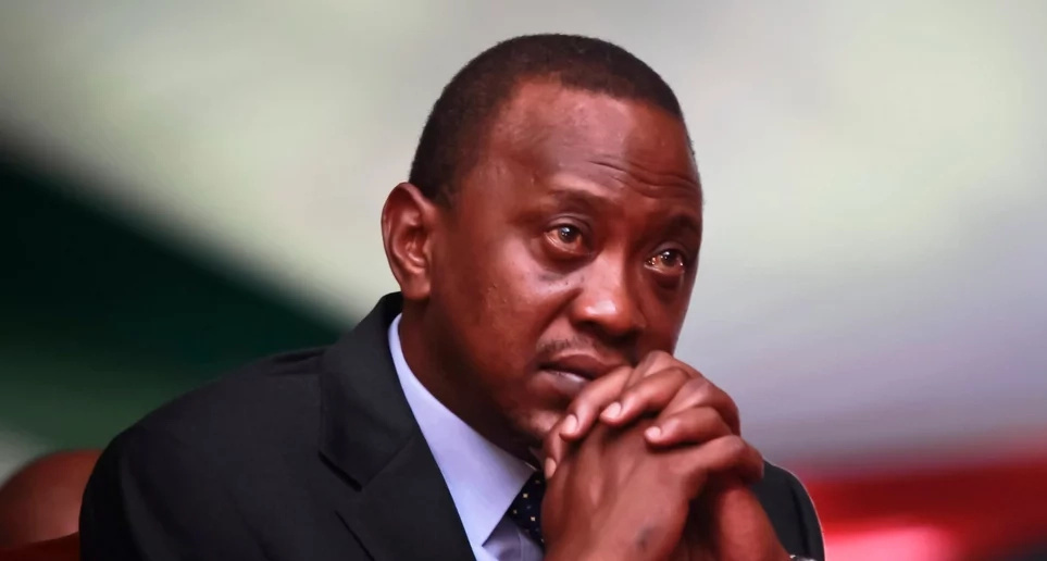 President Uhuru Kenyatta with a DEEP message following the death of veteran minister