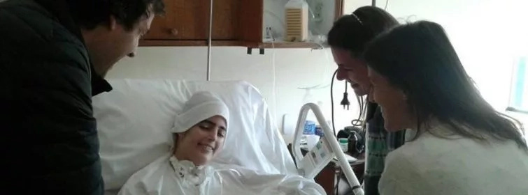 This nun died smiling! Look at her smile on her deathbed.