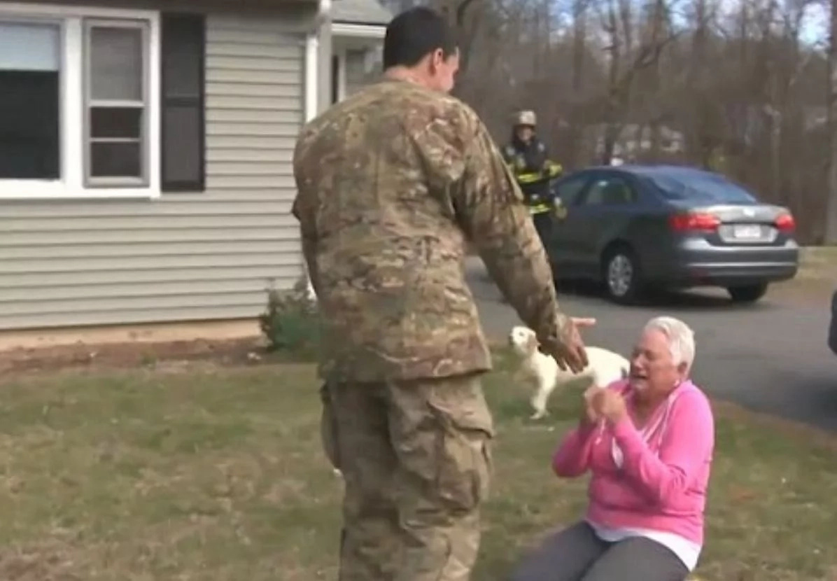 Mother couldn't believe that her son soldier was dead that she saw again