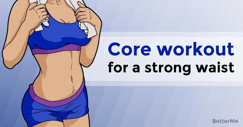 A core workout for a strong waist