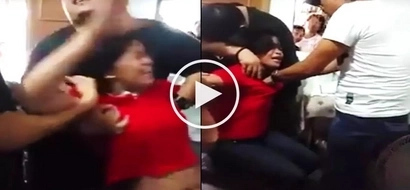 Terrifying video of 'demon-possessed' Filipina getting exorcised by faith healer scares netizens