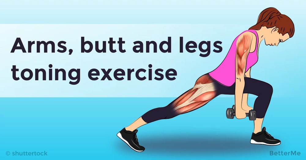 This exercise can help you tone your arms, butt and legs