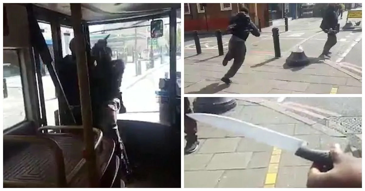 Wow! Brave man TACKLES knife-wielding thug in bus (photos, video)