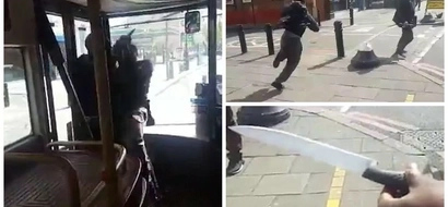 See incredible moment brave man TACKLES knife-wielding thug in bus (photos, video)