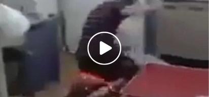 Nakakagalit naman si kuya! Pinoy man pins down and brutally punches woman in the face