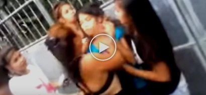 Battered Pinay teen collapses after brutal street fight with female neighbor