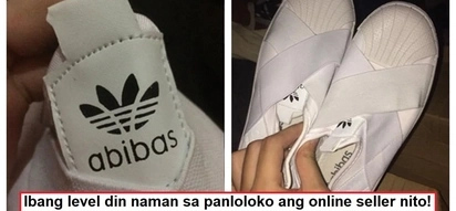 Magka-rhyme naman daw! Netizen purchased Adidas shoes online; receives 'Abibas' instead