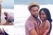 Young man grabs his lady's backside in their lovely pre-wedding photos
