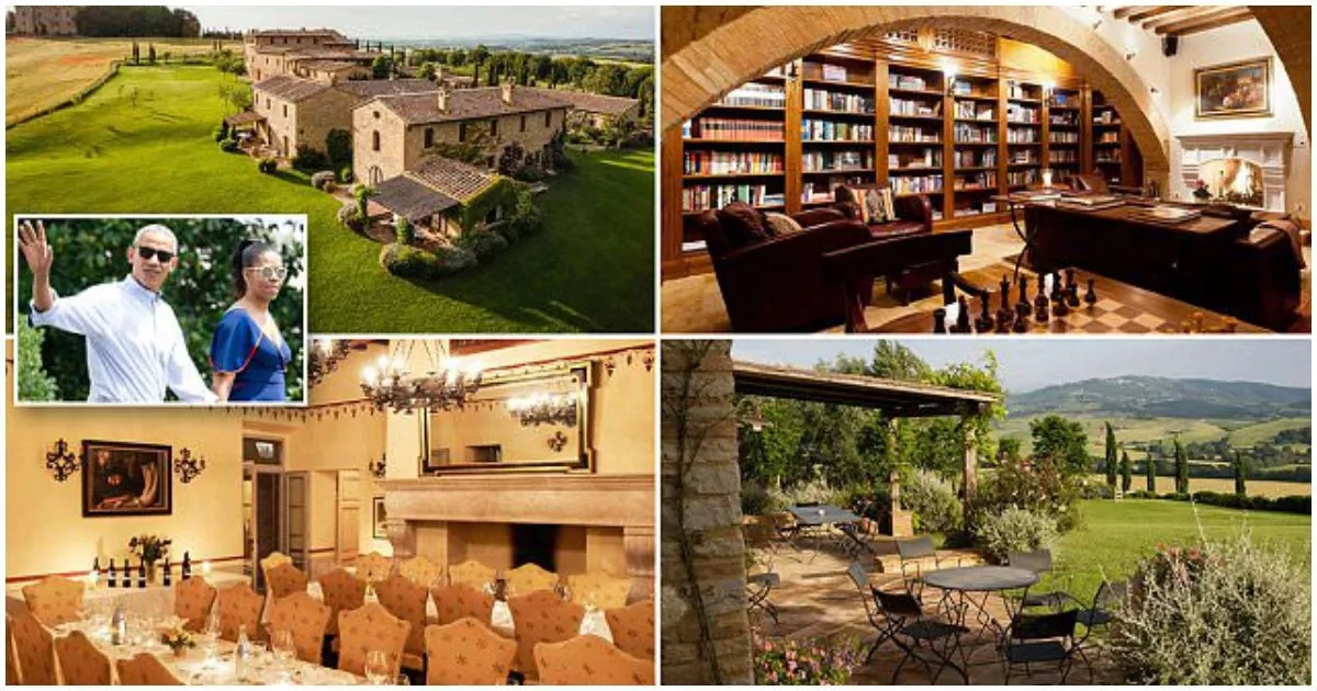 See stunning N4.7m-a-night luxury village Obamas are staying in while on tour of Italy (photos)