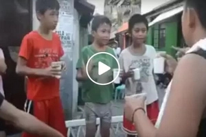 These kids were asked to blow that glass filled with flour...what happened next isn't what you're expecting!