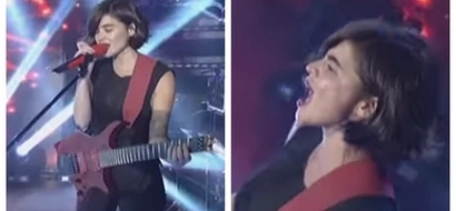 Watch Anne Curtis amaze the crowd by singing a rock song and playing the electric guitar on 'It's Showtime!'