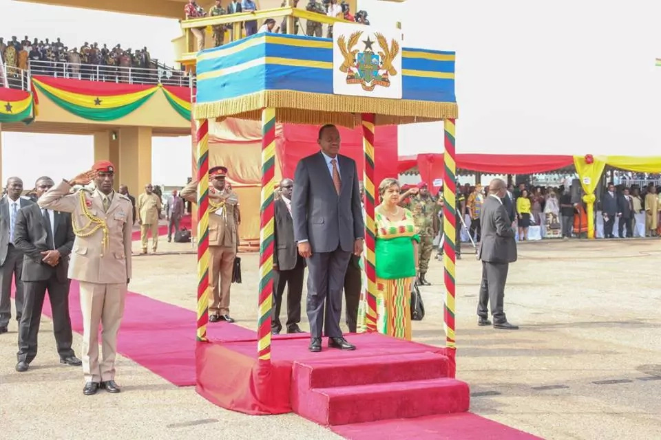 Photos of Uhuru at the famous 'Black Star Square' on Ghana's independence day