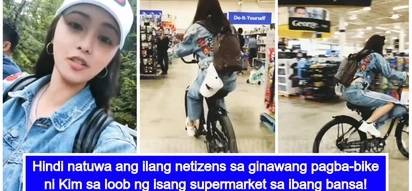 KSP daw? Kim Chiu gets bashed after riding a bicycle inside a supermarket
