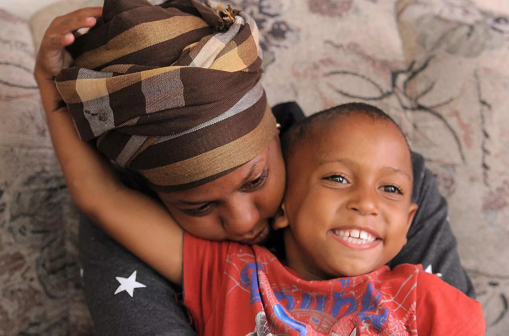 Junaid with his mother Monique. Photo: IOL