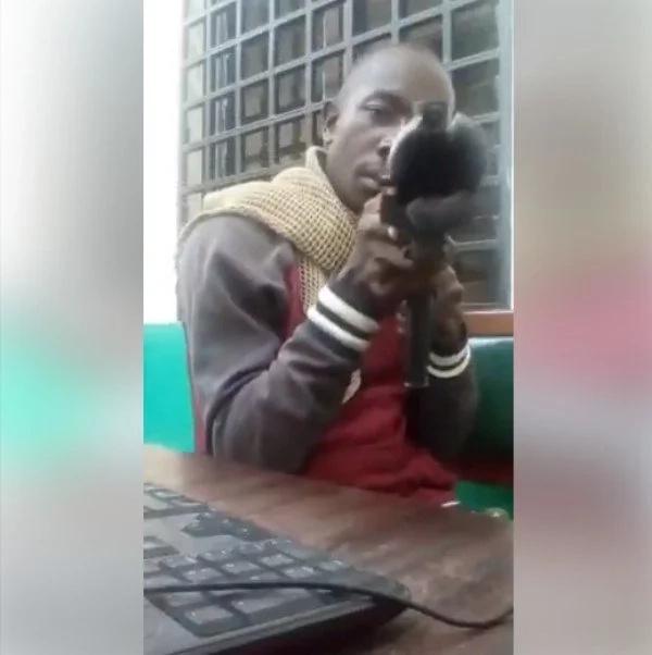 Kenyan soldier evokes anger online after firing gun and risking lives on live video
