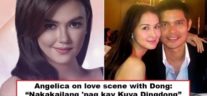 Iba siya sa mga lalake! Angelica Panganiban reveals she does not feel awkward on love scenes with her leading men but Dingdong Dantes is an exception