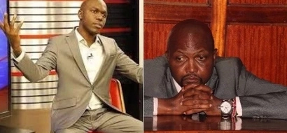 Kenyans react after Larry Madowo bans Moses Kuria from NTV