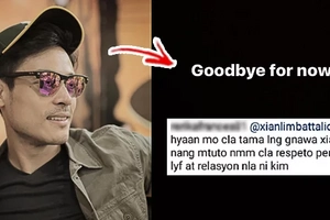 """Goodbye for now"": Actor Xian Lim Puzzles Fans With Cryptic IG Post"
