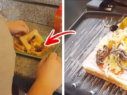 Girlfriend serves up the most disgusting sandwich, makes poor boyfriend sick to his stomach