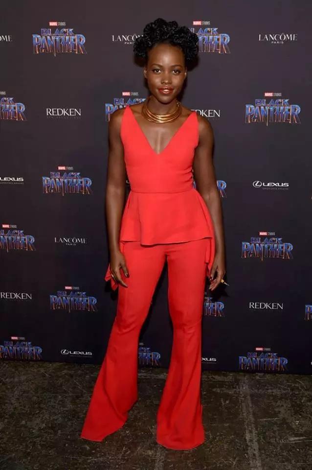 Lupita Nyong'o lifts Kenya's flag high again with her stunning red carpet dress at the Oscars