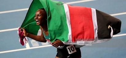 Kenya's Hellen Obiri storms into the women's 5000 metres final