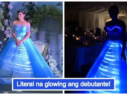 Glow in the dark ang peg! Bianca Umali's shocking debutante gown will make your jaw drop