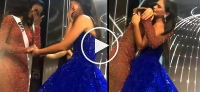 Heart-wrenching video of roommates Pia Wurtzbach and Miss USA saying their goodbyes goes viral