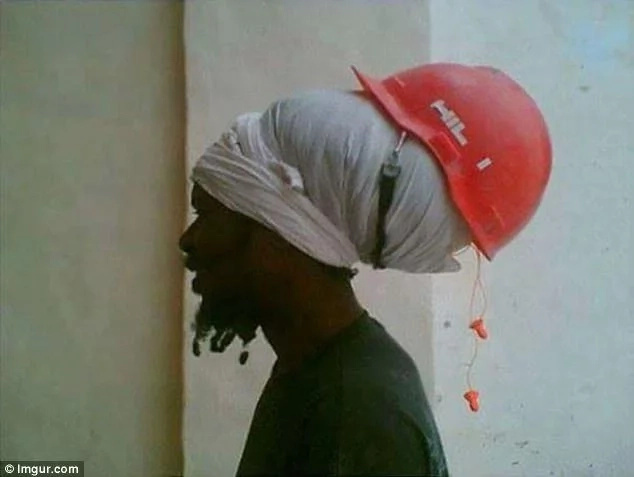 Is he protecting his head or his dreadlocks? Photo: Imgur.com