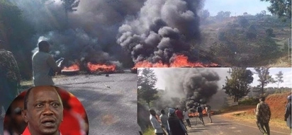 Violent protests rock Meru as Uhuru ends his Meru visit (photos)