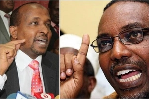 GUNFIRE as supporters of Aden Duale clash with rival Maalim