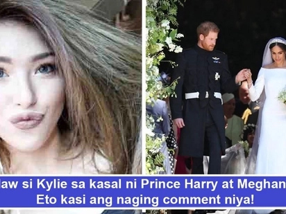 Bitter daw si ateng! Kylie Padilla nega comment ang peg sa royal wedding ni Prince Harry at Meghan Markle