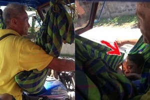 This sickly father cradles his toddler while driving tricycle for the shocking reason that his wife left them! Kailangan ng tulong ng mag-ama!