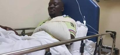 Mwanahabari wa KTN anusurika kifo chupu chupu(picha)