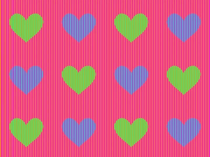 Ilusión óptica engaña al cerebro cuando intenta adivinar el color de estos corazones