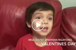 This adorable kid has the most hilarious advice on what to light up this coming Valentine's day