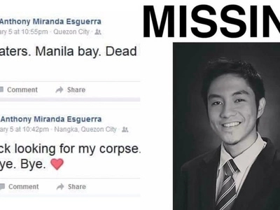 """Marikina teacher who went missing for a week miraculously rose """"from the dead"""""""